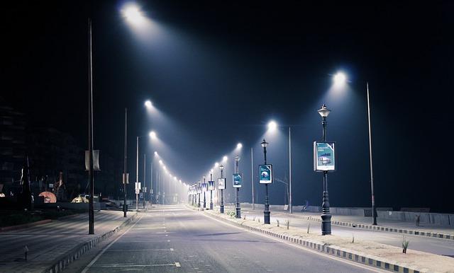 městské lampy