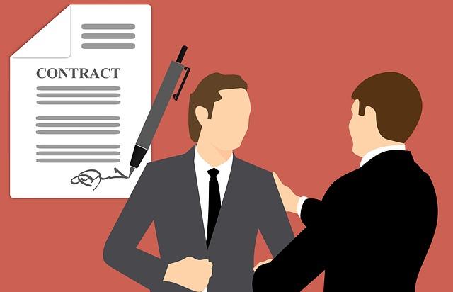 podpis kontraktu