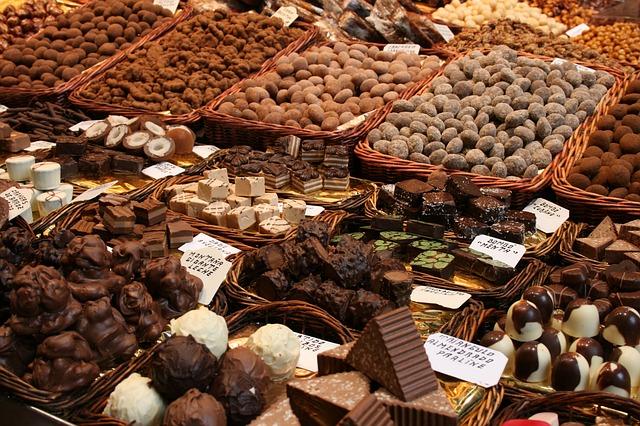 prodej čoko bonbonů
