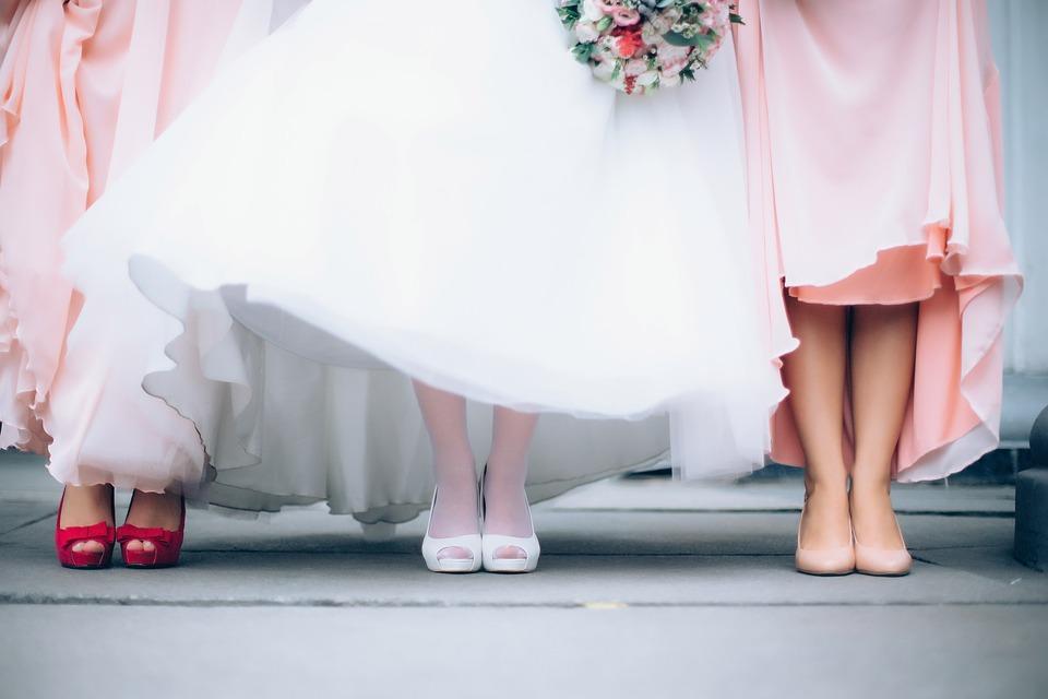 nevěsta na svatbě